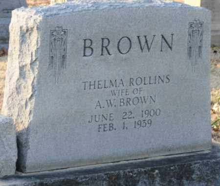 ROLLINS BROWN, THELMA - Mississippi County, Arkansas | THELMA ROLLINS BROWN - Arkansas Gravestone Photos