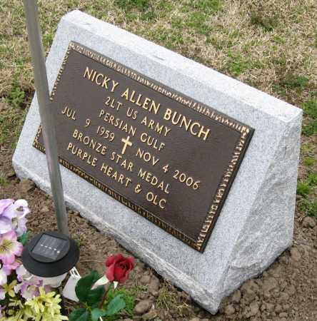 BUNCH  (VETERAN PGW), NICKY ALLEN - Mississippi County, Arkansas | NICKY ALLEN BUNCH  (VETERAN PGW) - Arkansas Gravestone Photos