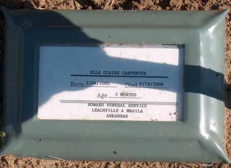 CARPENTER, ELLA CLAIRE - Mississippi County, Arkansas | ELLA CLAIRE CARPENTER - Arkansas Gravestone Photos