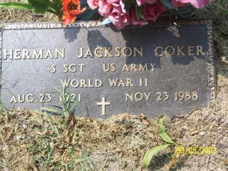 COKER (VETERAN WWII), HERMAN JACKSON - Mississippi County, Arkansas | HERMAN JACKSON COKER (VETERAN WWII) - Arkansas Gravestone Photos