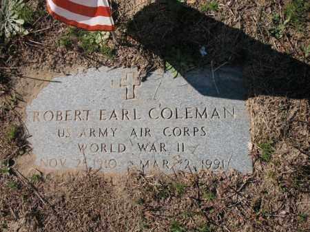 COLEMAN (VETERAN WWII), ROBERT EARL - Mississippi County, Arkansas   ROBERT EARL COLEMAN (VETERAN WWII) - Arkansas Gravestone Photos