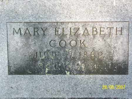 COOK, MARY ELIZABETH - Mississippi County, Arkansas | MARY ELIZABETH COOK - Arkansas Gravestone Photos