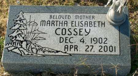 COSSEY, MARTHA ELISABETH - Mississippi County, Arkansas | MARTHA ELISABETH COSSEY - Arkansas Gravestone Photos