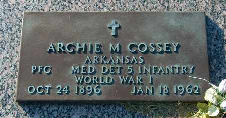 COSSEY (VETERAN WWI), ARCHIE M - Mississippi County, Arkansas   ARCHIE M COSSEY (VETERAN WWI) - Arkansas Gravestone Photos