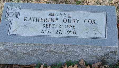 OURY COX, KATHERINE - Mississippi County, Arkansas | KATHERINE OURY COX - Arkansas Gravestone Photos