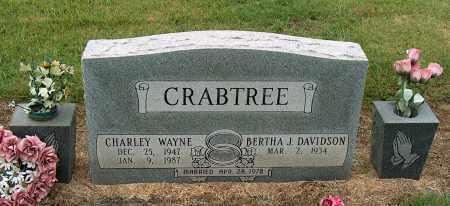 CRABTREE, CHARLEY WAYNE - Mississippi County, Arkansas   CHARLEY WAYNE CRABTREE - Arkansas Gravestone Photos