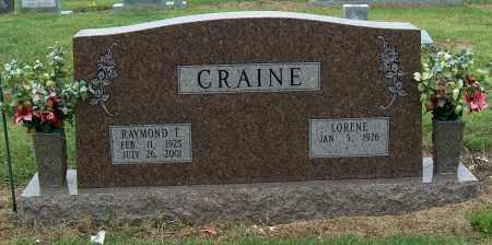 CRAINE, RAYMOND T. - Mississippi County, Arkansas   RAYMOND T. CRAINE - Arkansas Gravestone Photos