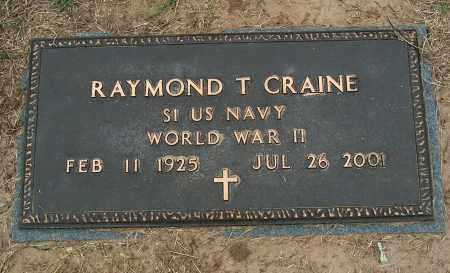 CRAINE (VETERAN WWII), RAYMOND T - Mississippi County, Arkansas | RAYMOND T CRAINE (VETERAN WWII) - Arkansas Gravestone Photos