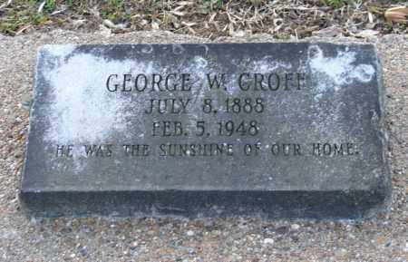 CROFF, GEORGE W. - Mississippi County, Arkansas | GEORGE W. CROFF - Arkansas Gravestone Photos