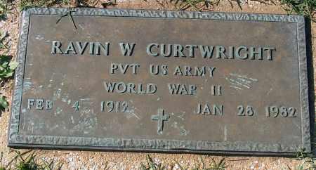 CURTWRIGHT (VETERAN WWII), RAVIN W - Mississippi County, Arkansas | RAVIN W CURTWRIGHT (VETERAN WWII) - Arkansas Gravestone Photos