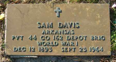 "DAVIS (VETERAN WWI), SAMUEL JEFFERSON ""SAM"" - Mississippi County, Arkansas 