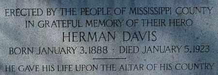 DAVIS  (MEMORIAL), HERMAN - Mississippi County, Arkansas | HERMAN DAVIS  (MEMORIAL) - Arkansas Gravestone Photos