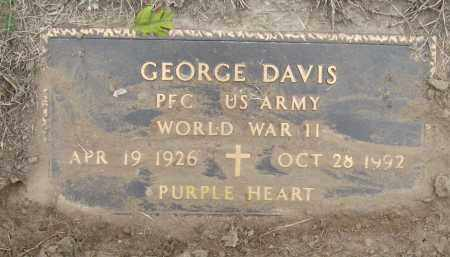 DAVIS (VETERAN WWII), GEORGE - Mississippi County, Arkansas | GEORGE DAVIS (VETERAN WWII) - Arkansas Gravestone Photos