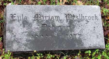 WESTBROOK DEDMAN, EULA MIRIAM - Mississippi County, Arkansas | EULA MIRIAM WESTBROOK DEDMAN - Arkansas Gravestone Photos