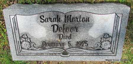 DEFOOR, SARAH MORTON - Mississippi County, Arkansas | SARAH MORTON DEFOOR - Arkansas Gravestone Photos