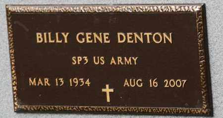 DENTON (VETERAN), BILLY GENE - Mississippi County, Arkansas | BILLY GENE DENTON (VETERAN) - Arkansas Gravestone Photos