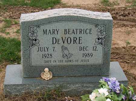 DEVORE, MARY BEATRICE - Mississippi County, Arkansas | MARY BEATRICE DEVORE - Arkansas Gravestone Photos