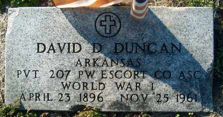 DUNCAN (VETERAN WWI), DAVID D - Mississippi County, Arkansas | DAVID D DUNCAN (VETERAN WWI) - Arkansas Gravestone Photos