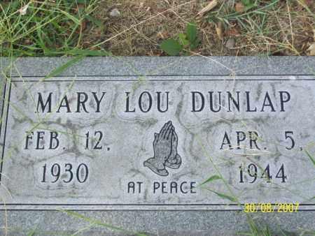 DUNLAP, MARY LOU - Mississippi County, Arkansas | MARY LOU DUNLAP - Arkansas Gravestone Photos