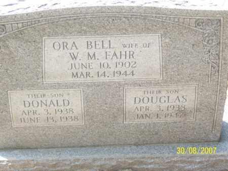 FAHR, ORA BELL - Mississippi County, Arkansas | ORA BELL FAHR - Arkansas Gravestone Photos