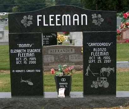 OSBORNE FLEEMAN, ELIZABETH - Mississippi County, Arkansas   ELIZABETH OSBORNE FLEEMAN - Arkansas Gravestone Photos