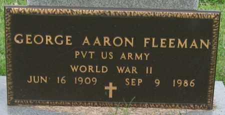 FLEEMAN (VETERAN WWII), GEORGE AARON - Mississippi County, Arkansas | GEORGE AARON FLEEMAN (VETERAN WWII) - Arkansas Gravestone Photos