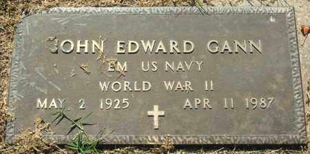 GANN (VETERAN WWII), JOHN EDWARD - Mississippi County, Arkansas | JOHN EDWARD GANN (VETERAN WWII) - Arkansas Gravestone Photos