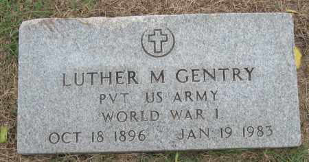 GENTRY (VETERAN WWI), LUTHER M - Mississippi County, Arkansas   LUTHER M GENTRY (VETERAN WWI) - Arkansas Gravestone Photos