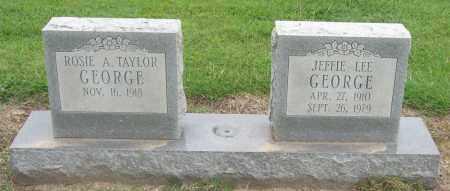 GEORGE, JEFFIE LEE - Mississippi County, Arkansas | JEFFIE LEE GEORGE - Arkansas Gravestone Photos