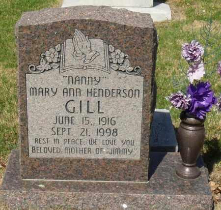 "HENDERSON GILL, MARY ANN ""NANNY"" - Mississippi County, Arkansas | MARY ANN ""NANNY"" HENDERSON GILL - Arkansas Gravestone Photos"