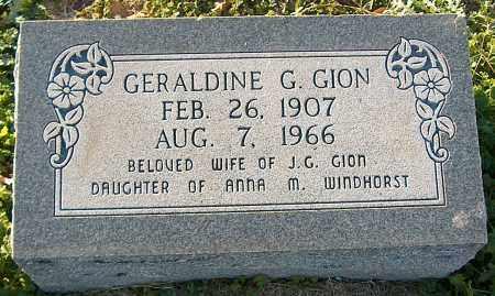 GION, GERALDINE G - Mississippi County, Arkansas | GERALDINE G GION - Arkansas Gravestone Photos