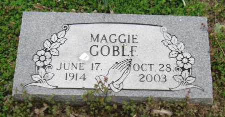 GOBLE, MAGGIE - Mississippi County, Arkansas | MAGGIE GOBLE - Arkansas Gravestone Photos