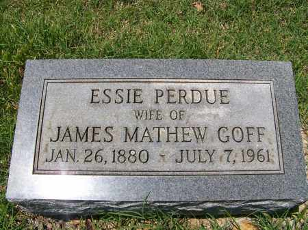 PERDUE GOFF, ESSIE MAY - Mississippi County, Arkansas | ESSIE MAY PERDUE GOFF - Arkansas Gravestone Photos