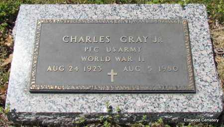 GRAY, JR (VETERAN WWII), CHARLES - Mississippi County, Arkansas   CHARLES GRAY, JR (VETERAN WWII) - Arkansas Gravestone Photos