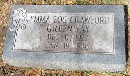 CRAWFORD GREENWAY, EMMA LOU - Mississippi County, Arkansas   EMMA LOU CRAWFORD GREENWAY - Arkansas Gravestone Photos
