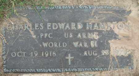 HAMPTON (VETERAN WWII), CHARLES EDWARD - Mississippi County, Arkansas | CHARLES EDWARD HAMPTON (VETERAN WWII) - Arkansas Gravestone Photos