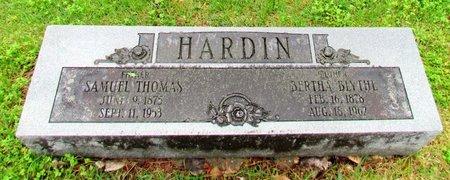 BLYTHE HARDIN, BERTHA - Mississippi County, Arkansas   BERTHA BLYTHE HARDIN - Arkansas Gravestone Photos