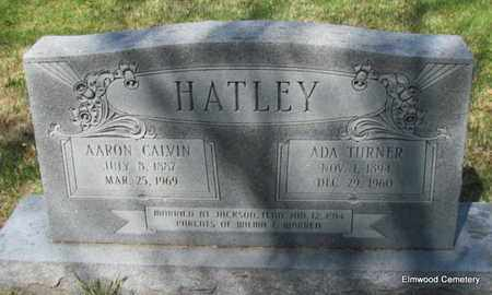 HATLEY, AARON CALVIN - Mississippi County, Arkansas | AARON CALVIN HATLEY - Arkansas Gravestone Photos