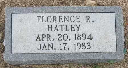HATLEY, FLORENCE R - Mississippi County, Arkansas | FLORENCE R HATLEY - Arkansas Gravestone Photos