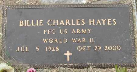 HAYES (VETERAN WWII), BILLIE CHARLES - Mississippi County, Arkansas | BILLIE CHARLES HAYES (VETERAN WWII) - Arkansas Gravestone Photos