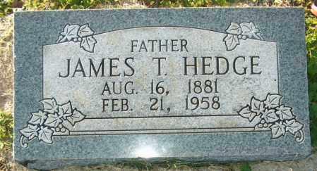 HEDGE, JAMES T - Mississippi County, Arkansas | JAMES T HEDGE - Arkansas Gravestone Photos