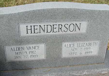 HENDERSON, ALDEN VANCE - Mississippi County, Arkansas | ALDEN VANCE HENDERSON - Arkansas Gravestone Photos