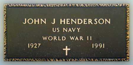 HENDERSON (VETERAN WWII), JOHN J - Mississippi County, Arkansas | JOHN J HENDERSON (VETERAN WWII) - Arkansas Gravestone Photos