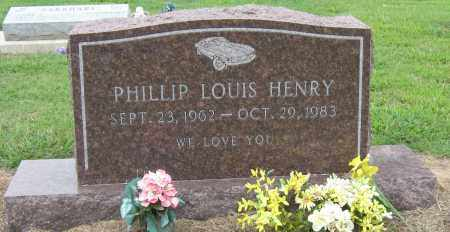 HENRY, PHILLIP LOUIS - Mississippi County, Arkansas | PHILLIP LOUIS HENRY - Arkansas Gravestone Photos