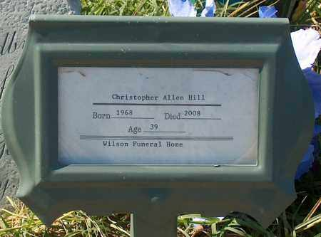 HILL, CHRISTOPHER ALLEN - Mississippi County, Arkansas | CHRISTOPHER ALLEN HILL - Arkansas Gravestone Photos