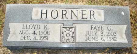 HORNER, FAYE G - Mississippi County, Arkansas | FAYE G HORNER - Arkansas Gravestone Photos