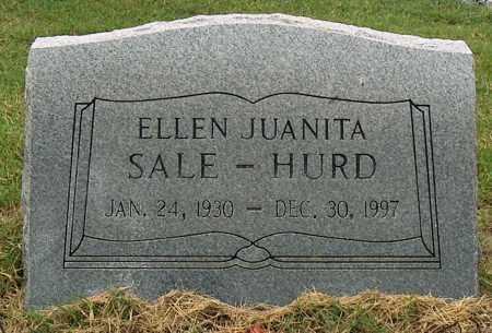 SALE HURD, ELLEN JUANITA - Mississippi County, Arkansas | ELLEN JUANITA SALE HURD - Arkansas Gravestone Photos