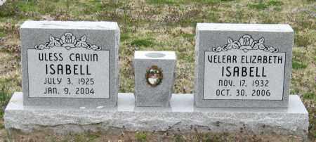 ISABELL, VELEAR ELIZABETH - Mississippi County, Arkansas | VELEAR ELIZABETH ISABELL - Arkansas Gravestone Photos