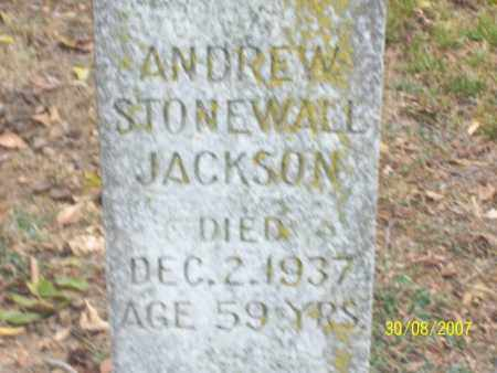 JACKSON, ANDREW STONEWALL - Mississippi County, Arkansas | ANDREW STONEWALL JACKSON - Arkansas Gravestone Photos