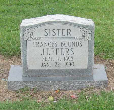 JEFFERS, FRANCES BOUNDS - Mississippi County, Arkansas | FRANCES BOUNDS JEFFERS - Arkansas Gravestone Photos